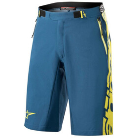 Alpinestars Mesa Shorts Herrer, poseidon blue/acid yellow